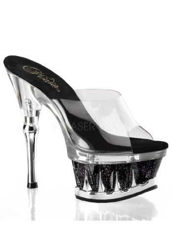 SPIKY-601MG - Pleaser USA Shoes Clr/Blk-Clr