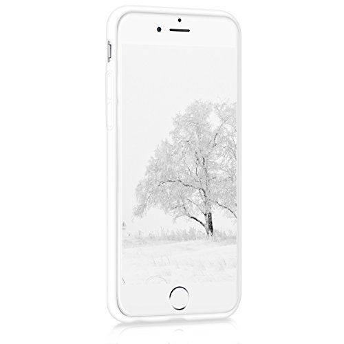 kwmobile Hülle für Apple iPhone 6 / 6S - TPU Silikon Backcover Case Handy Schutzhülle - Cover Rot matt .Weiß matt