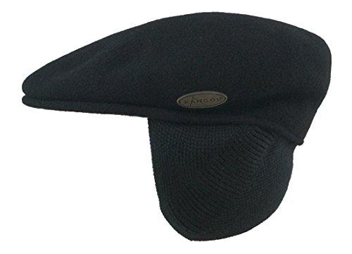 Kangol Winterflatcap Ohrenklappen: Original Schiebermütze 504 aus Schurwolle für kalte Winter - Kangol Tweed Cap