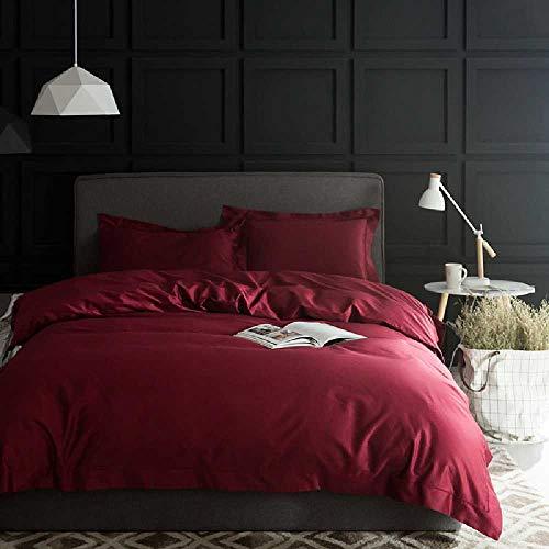 CHINCI GUO 100 Vier Stück Baumwolle Baumwolle reduzierte langfaserig Decke Decke einfarbig bettwäsche Hotel 2.0 Betten Wein - rot - Echo Design-bettwäsche-bettdecken
