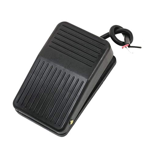 Interruttore a pedale, AC 250V 10A antiscivolo metallo Momentanea industriale elettrica interruttore a pedale