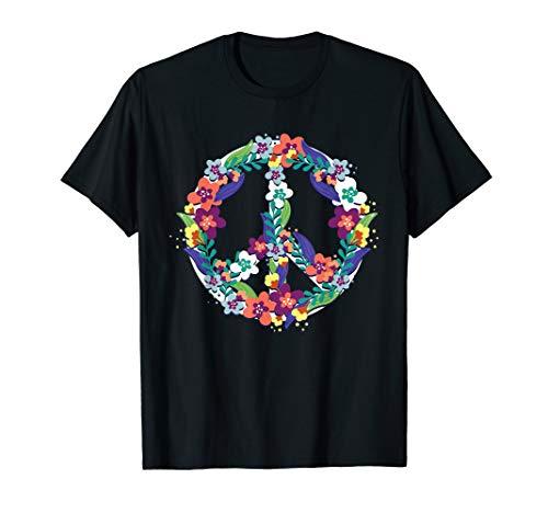 Sign Blumen Retro 60er 70er T-Shirt ()