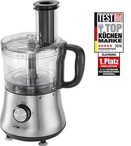 Clatronic KM 3646 Universal-Küchenmaschine mit 1,5 L Standmixer, edelstahlgehäuse, inox