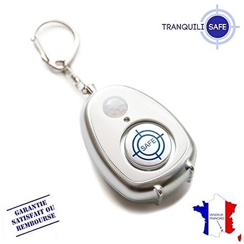 TRANQUILISAFE® Alarme personnelle anti agression et antivol avec détecteur de