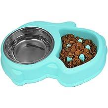 STXMALL Comedero Perro Comedero Gato Lento Despacio a Comer Anti-Asfixia Fun Juguetes Interactivos Para