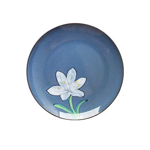 YUWANW kreative koreanische underglaze Farbe von Hand bemalt Knochenplatte Scheibe flache Platte Dekorplatte hängende Platte nach Hause - A9 Geld