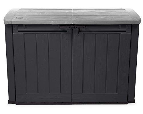 *Ondis24 Fahrradbox Mülltonnenbox Aufbewahrungsbox Store it Out Ultra, Anthrazit, 2.000L*