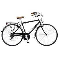 Via Veneto by Canellini Bicicleta Bici Citybike CTB Hombre Vintage Retro Via Veneto Acero (Negro, 50)