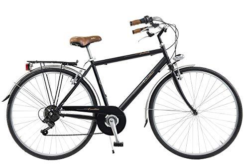 Via Veneto by Canellini Fahrrad Rad Citybike CTB Herren Vintage Retro Via Veneto Stahl (Schwarz, 54)