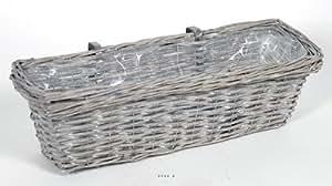 Artificielles - Balconniere en osier l 55 x 20 x h 15 cm