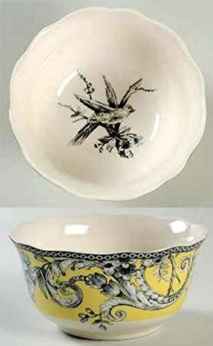 222 Fünfte Adelaide Müsli-/Suppenteller, 14 cm, Gelb, 4 Stück - 222 Fifth Dinnerware