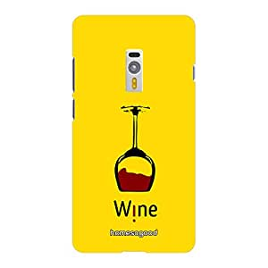 HomeSoGood Wine Upside Down Yellow 3D Mobile Case For OnePlus 2 (Back Cover)
