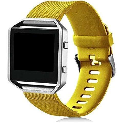 Klassisches Wearlizer Fitbit Blaze Band, Silikon Ersatzband Für Die Neue Version Der Fitbit Smart Fitness Watch