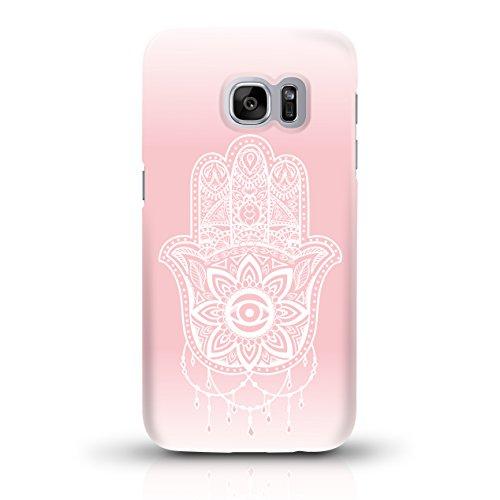 """JUNIWORDS Handyhüllen Slim Case für Samsung Galaxy S7 - Motiv """"Altrosa, Chevron, Marmor"""" Schutzhülle für Ihr Smartphone Hand of Fatima rosa"""