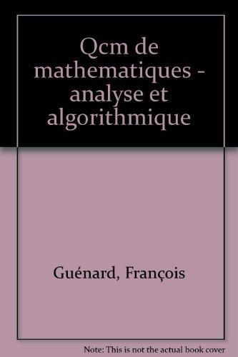 MATHEMATIQUES. Analyse et algorithmique