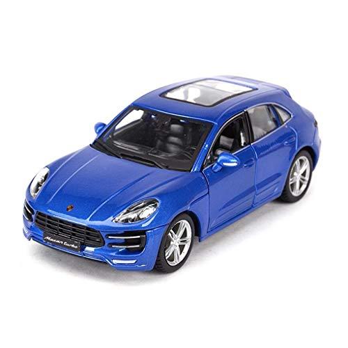 Maisto 1:24 skala Porsche Macon Modell Legierung Diecast Car Modell Collection Modell Ziehen Auto Spielzeug Geschenk Für Jungen Simulation Miniaturmodelle Fahrzeuge (Color : Blue)