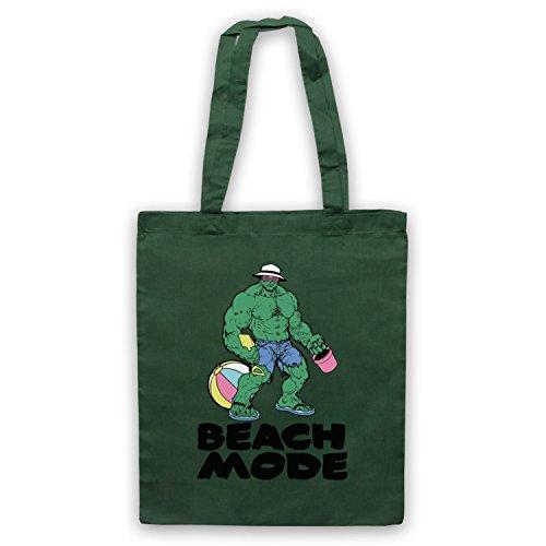 Beach Mode Gym Workout Slogan Umhangetaschen Dunkelgrun