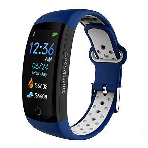 TOYBO wasserdichte intelligente Sportuhr, Echtzeit-Herzfrequenzüberwachungsinformationen, Push-Call-Erinnerung-Blue -