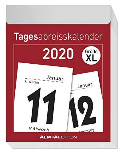 Tagesabreißkalender XL 2020 - Wandkalender - Bürokalender (8 x 11) - 1 Tag 1 Seite - mit Sudokus, Rezepten, Rätseln uvm.