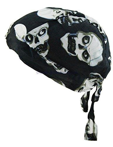 Bandana sportiva ad asciugatura rapida, protegge dai raggi uv, ideale per ciclismo, corsa, bicicletta, moto o per essere indossata sotto al casco, cotton bandana-skull-a
