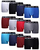 FM London Herren Fitted Boxer Hipster (12er Pack)