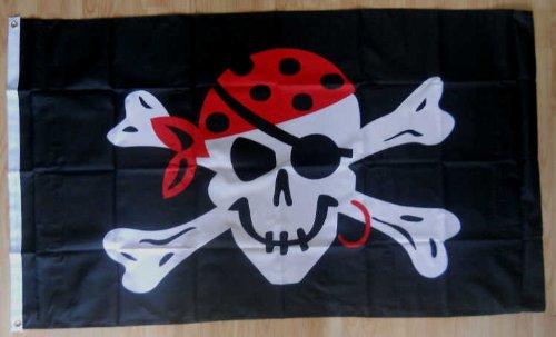 One Eyed Pirate Jack Grand Drapeau 152 x 91 cm.