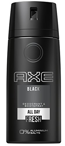 AXE Deospray Black ohne Aluminium 150 ml, 3er Pack (3 x 150 ml) (Axe Body Spray Deodorant)