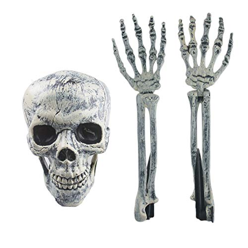 Cutogain 3pcs set halloween skeleton skulls braccio horror sepolto for home garden yard lawn decorazione