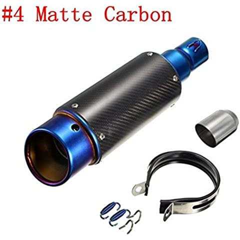 ungfu Mall 38–51mm acero inoxidable o carbono tubo de escape Silenciador Silenciador para Moto para bicicleta de calle