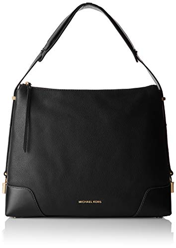 Michael Kors Damen Crosby Large Shoulder Schultertasche, Schwarz (Black), 14x28.6x35.5 cm