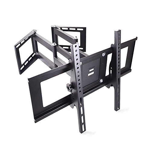 Vemount TV Soporte de Pared para Esquina, Soporte de Pared y Esquina para TV de 30-70 pulgadas(76cm-178cm), Compatible con TV LED,LCD, Plasma Flat Screen Pantalla Plana Smart TV, Máx. VESA 600mmx400mm, Máx. Carga 45kg - Negro