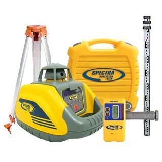 Spectra Precision LL100N Premium Laser Level Kit including HR320 Detector, 2.4M Staff, Surveying Tripod & Calibration Certificate
