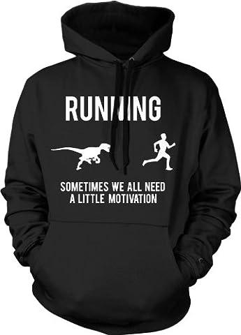 Crazy Dog TShirts - Running Motivation Sweater Funny Running T shirts Sarcasm Humor Run Novelty Hoodie (Black) M - Homme