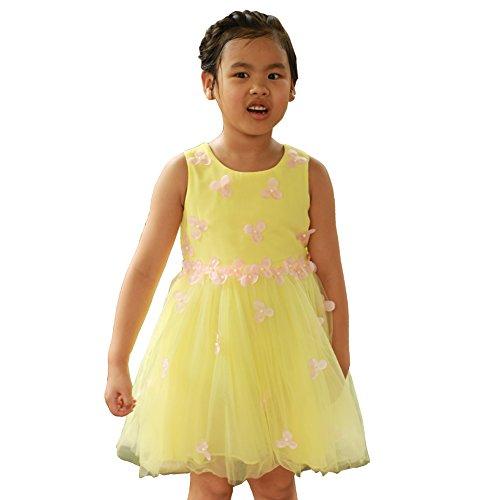 Super Cute kinder kleine Mädchen Flowers Blumen Kleider Freizeit ärmellose Party Prinzessin kleid Girls Dress (9-10 jahre, (Elf Halloween Kostüme Jahre Alt)
