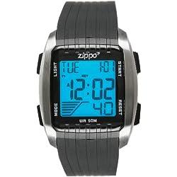 Zippo Herren-Armbanduhr Digital Kunststoff schwarz 45016