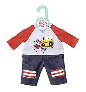Zapf Creation 870587Dolly Moda Sudadera y pantalón 36cm, Rojo, Gris, Azul