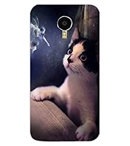ColourCraft Angel and Cat Design Back Case Cover for MEIZU BLUE CHARM NOTE 3