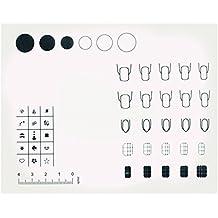 BEETEST Lavable silicona reutilizable uñas uñas de arte para colorear impresión práctica trabajo sellado placa Mat tabla transferencia de herramientas