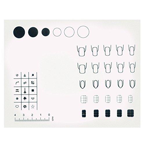 BEETEST Lavable silicona reutilizable uñas uñas de arte para colorear impresión práctica trabajo sellado placa Mat tabla transferencia de