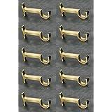 WSK™ Best Range Collection Brass Antique Curtain Bracket Support 10 Pcs Door and Window Fitting Hardware: WSK_CurtainBracket_564