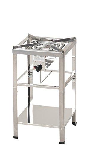 ChattenGlut - Gasgerätemanufaktur Hessen Hockerkocher, Gaskocher, Chinaherd, HK2012E 16 KW mit Untergestell