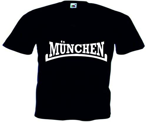T-Shirt Oktoberfest Wiesn München Junggesellenabschied für Frauen Männer und Kinder in allen Größen XS bis 4XL oder Kinder 104 bis 164 Motiv Nr.47 Herren-Schwarz