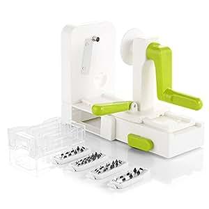spiralschneider zanmini gem seschneider spiralschneider mit 4 austauschbare. Black Bedroom Furniture Sets. Home Design Ideas