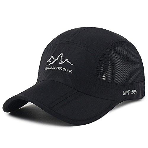 d0539da628e Estwell Unisex Baseball Cap Foldable Adjustable Baseball Hat Waterproof  Quick Drying Outdoor Sport Running Cap