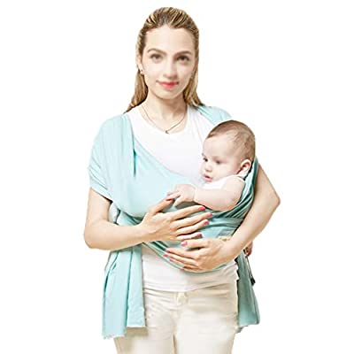 XHLYZY Spring and Summer Baby Carrier, Baby Wrapped Strap, Suitable for Newborns, Toddlers, Newborn Breastfeeding Lumbar Bench, Multi-Functional Sling, Four Seasons Universal (Color : Green)