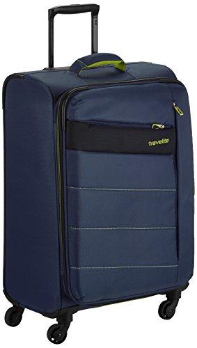 Travelite Valise à Roulette Kite avec 4 Roues, 64 cm, 67 L, Bleu Marine