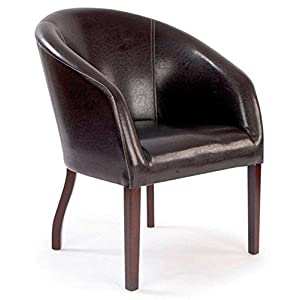 Ultimum Metro Curved Brown Armchair
