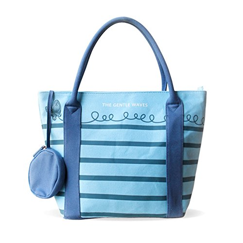La signora spalla tendenza borsa a righe/borsa di tela-A A