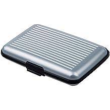Tarjetero rígido de aluminio, disponible en varios colores plata