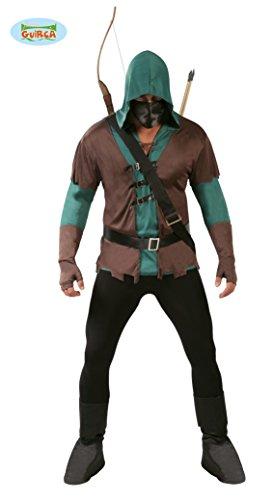 Creed Amazon Assassin Kostüm (Gallischer 80722–Kostüm Bogenschütze, braun, Einheitsgröße)
